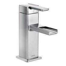 90 Degree chrome one-handle bathroom faucet