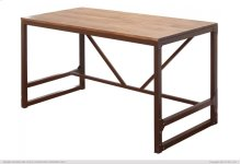 Writing Desk w/Wood Top & Iron Base
