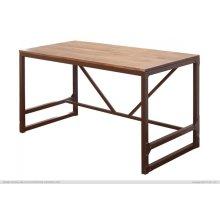 Writing Desk w/Wood Top & Iron Base