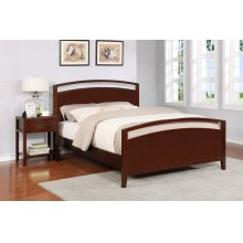 Reisa Bed - Full, Espresso Brown Finish