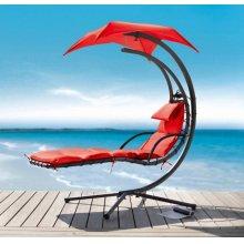Renava Bahama Outdoor Red Hanging Lounge Chair