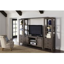 Madison County Entertainment Wall - Barnwood