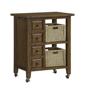 Tuscan Retreat® 2 Basket Kitchen Cart - Antique Pine