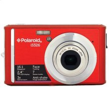 Polaroid 16-Megapixel Ultra Slim 12x Enhanced Optical Zoom Digital Camera with 2.4-Inch LCD Screen, iS326-Red