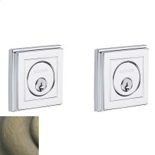 Satin Brass and Black Hollywood Hills Deadbolt