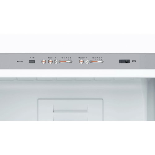 800 Series Free-standing fridge-freezer with freezer at bottom, glass door 60 cm, Stainless steel B10CB80NVS