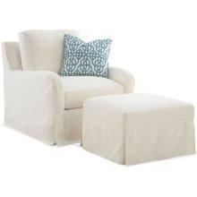 Halsey Slipcovered Chair and Ottoman