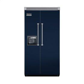 "Viking Blue 42"" Side-by-Side Refrigerator/Freezer with Dispenser - VISB (Integrated Installation)"