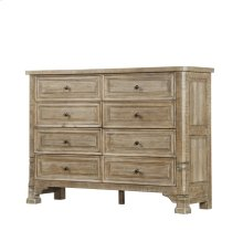 Emerald Home Kennewick 8 Drawer Dresser Weathered Pine B561-01