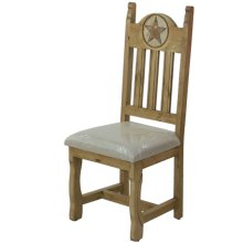 Dining chair with cushion seat and stone star (Honey finish)