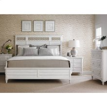 Cypress Grove-Wood Panel Bed in Parchment