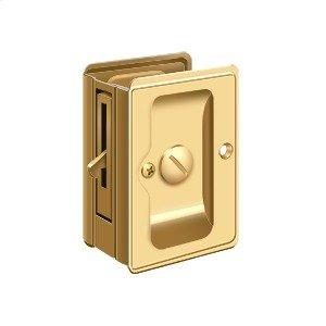 "HD Pocket Lock, Adjustable, 3 1/4""x 2 1/4"" Privacy - PVD Polished Brass"