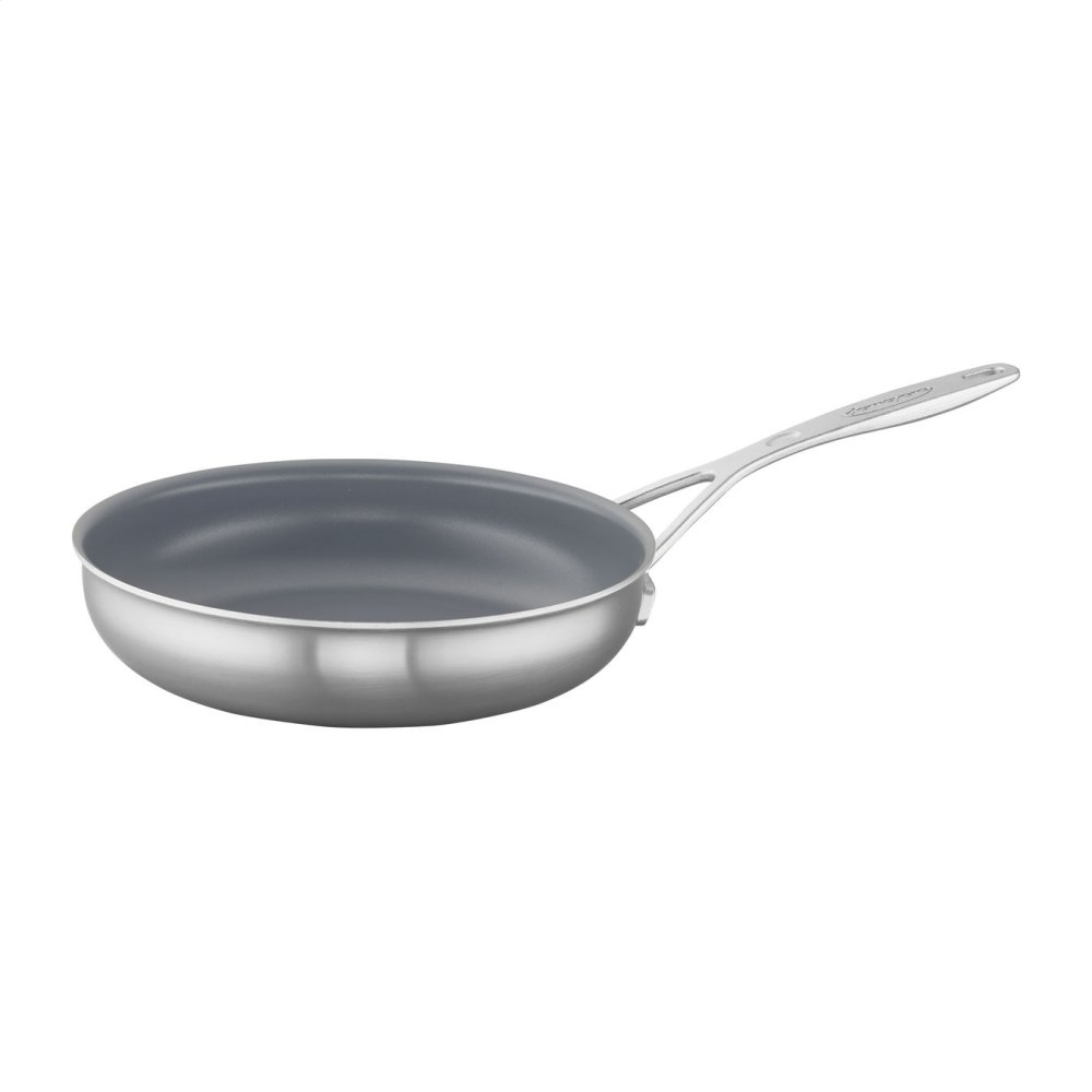"""Demeyere Industry 5-Ply 9.5"""" Stainless Steel Ceramic Nonstick Fry Pan"""