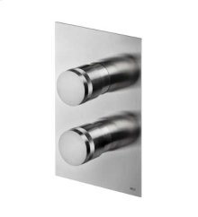 Thermostatic shower valve with volume control.