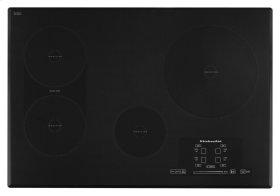 "30"" Induction Cooktop with 4 Elements, Touch-Activated Controls and Power Slider - Black"