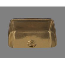 Vickie - Small Rectangular Lavatory - No Overflow - Undermount Only - Almond