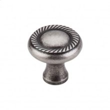 Swirl Cut Knob 1 1/4 Inch - Pewter Antique