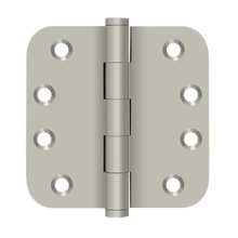 "4"" x 4"" x 5/8"" Radius Hinges Residential - Brushed Nickel"