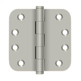 "4"" x 4"" x 5/8"" Radius Hinges Residential - Brushed Nickel"