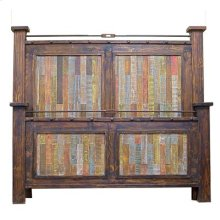 """King : 84"""" x 70"""" x 5"""" Las Piedras Bed with Painted Pallet Wood"""