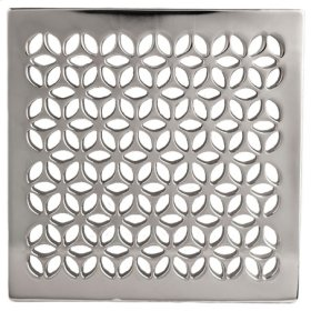 """Satin Gold - PVD 4"""" Square Shower Drain"""
