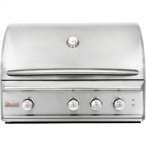 BLAZE GRILLSBlaze Professional 34-Inch 3 Burner Built-In Gas Grill With Rear Infrared Burner, With Fuel type - Propane