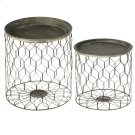 2 pc. set. Rustic Honeycomb Storage Side Table. Tray Tops are Removable. (2 pc. set) Product Image
