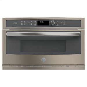 GE Profile™ Series Built-In Microwave/Convection Oven - SLATE