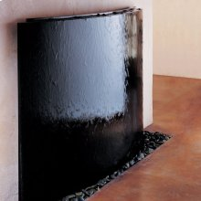 Curved Waterwall, Black Granite Blue Grey Granite Fountain