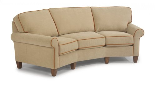 Westside Leather Conversation Sofa