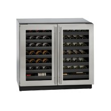 "Modular 3000 Series 36"" Wine Captain® Model With Stainless Frame Finish and Double Doors Door Swing (115 Volts / 60 Hz)"