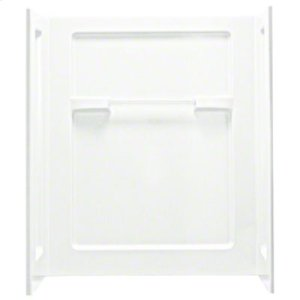 """OC-SS-63 48"""" x 35-1/4"""" x 56"""" Seated Shower with Age in Place Backers - Wall Set - White Product Image"""