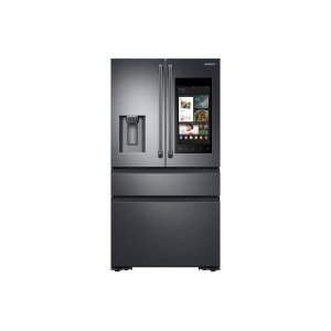 Samsung22 cu. ft. Family Hub™ Counter Depth 4-Door French Door Refrigerator in Black Stainless Steel