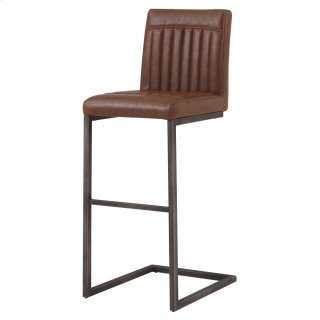 Ronan KD PU Bar Stool, Antique Cigar Brown