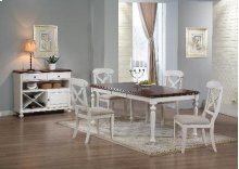 Sunset Trading 5pc Andrews Dining Set in Antique White