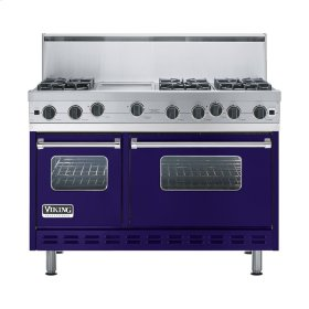 "Cobalt Blue 48"" Open Burner Range - VGIC (48"" wide, six burners 12"" wide griddle/simmer plate)"