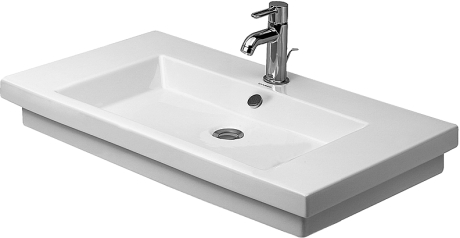 "White Washbasin Ground, 31 1/2"" Inch"