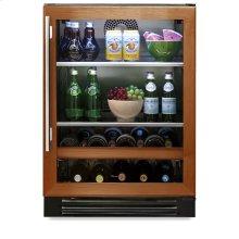 24 Inch Overlay Glass Door Beverage Center - Left Hinge Overlay Glass