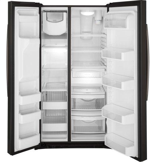 GE® ENERGY STAR® 25.3 Cu. Ft. Side-By-Side Refrigerator