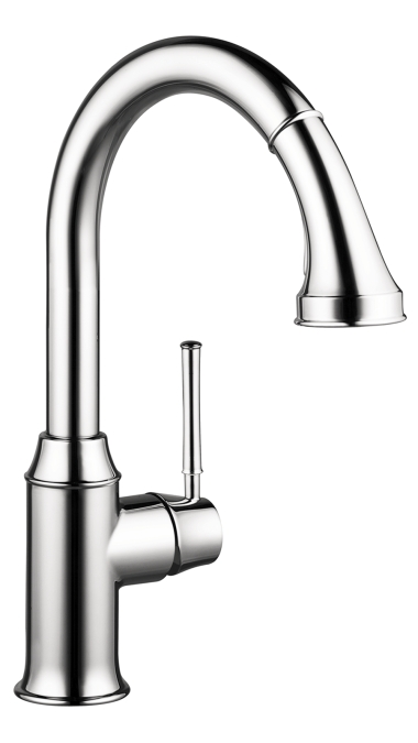Chrome Talis C 2-Spray HighArc Kitchen Faucet, Pull-Down, 1.75 GPM