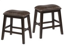 Spencer Backless Non-swivel Counter Stool - Set of 2 - Dark Espresso (wirebrush)
