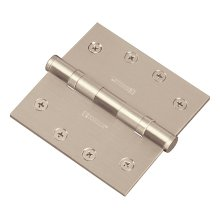Square Ball Bearing Hinge - Bright Brass