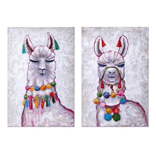 Llama Party Oil Painting - Ast 2