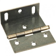 """Antique Brass 2-1/2"""" Single Full Swaged Wrap Around Hinge with Large Slotted Holes"""