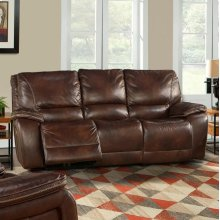 Vail Burnt Sienna Power Sofa