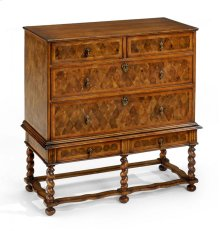 Oyster Veneer Chest on Stand