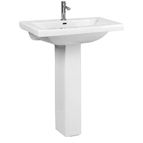 Mistral 650 Pedestal Lavatory - White