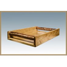 Glacier Country Log Serving Tray