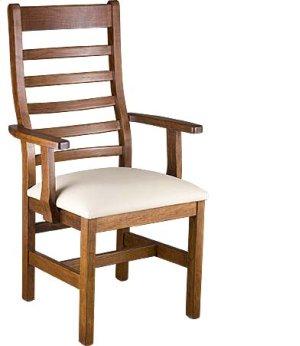 Lorre Arm Chair w/ Fabric Seat