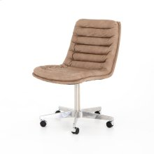 Natural Washed Mushroom Cover Malibu Desk Chair